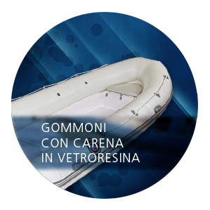 Gommoni con carena in vetroresina